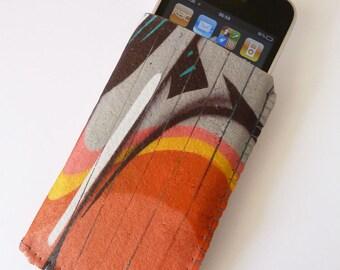 iPhone 7 Case, iPhone 6/6S Case, iPhone 5/5S/5C Case - Orange Graffiti Art - Soft Felt iPhone 6/6S Sleeve