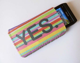 iPhone 4/4S iPhone 5 Sleeve Case Pouch Love of Colours Yes No Rainbow
