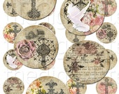 The Trinity - 1 inch Circles - Digital Collage Sheet - Instant Download and Print