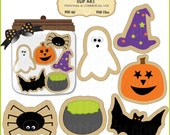 Halloween Cookies Clip Art Set - Personal and Commercial Use - Digital Instant Download