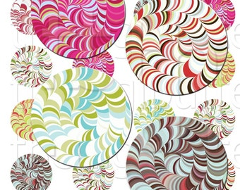 Transcension - 1 inch Circles - Digital Collage Sheet - Instant Download and Print