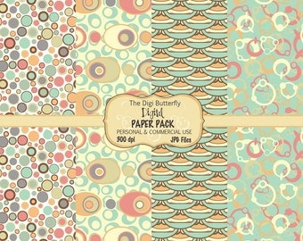 Alison - Digital Paper Pack - For Personal and Commercial Use - Digital Instant Download
