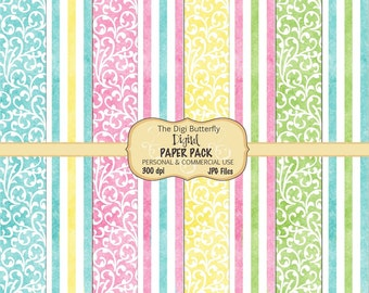 Spring Fling - Digital Paper Pack - For Personal and Commercial Use - Digital Instant Download