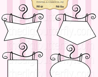 Posh Boutique - Digital Clip Art Frames - Personal and Commercial Use - Digital Instant Download