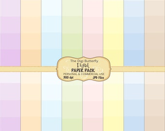 Pastel Graduates- Digital Paper Pack - For Personal and Commercial Use - Digital Instant Download