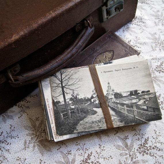60 Antique World War One Russian Postcards