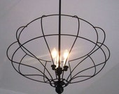 Beata - Large Black Three Light Pedant Fixture