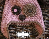 READY to ship -- Puppy Love hat for HER -- Size 2T-4T-- Also available in Newborn to Adult Sizes