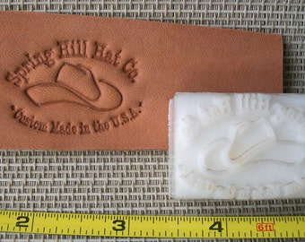 "Leather Embossing Dies - up to 1.5"" - Custom Leather Stamp"