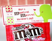 Printable Valentine Treat Topper customized with child's name, Pink