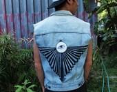 Made to Order. Unisex Radiating Eye Vest