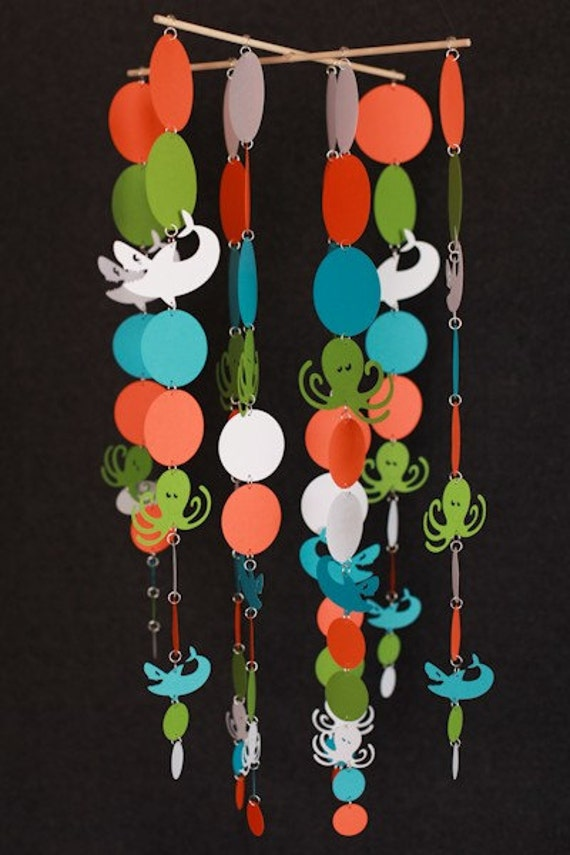 Unavailable listing on etsy for Sea animal baby mobile