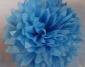 Pacific Blue Tissue Paper Pom Pom 1 Large