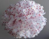 Red Hearts Valentine's Day Large Tissue Paper Pom Pom