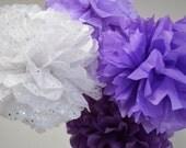 40 Wedding Decoration Tissue Paper Pom Poms  - Your Color Choice