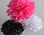 40 Wedding Day Tissue Paper PomPoms - Your Color Choice