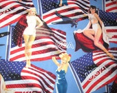Quilter Quality Fabric - Robert Kaufman- Marilyn Monroe, Betty Gable and Joan Crawford