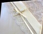 Vintage Ivory Glamour Wedding Invitation