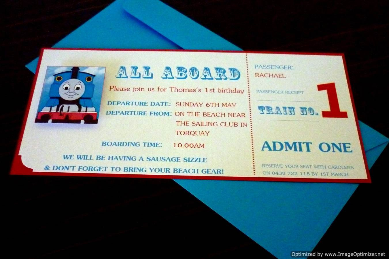 Thomas Party Invites for adorable invitation layout