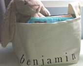 Personalized Fabric Basket With One Word