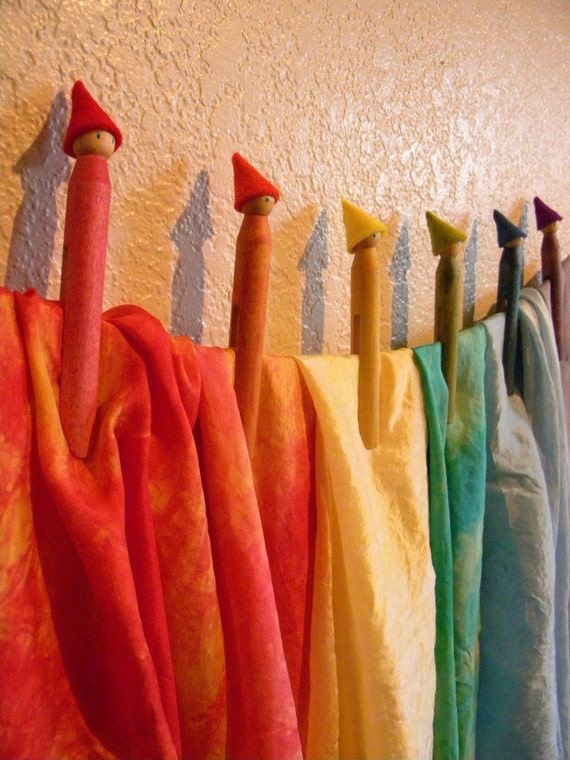 Rainbow Gnome Clothes Pins, Made to Order