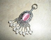 Pink And White Dangling Pendant