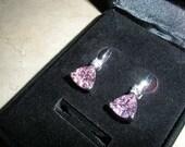 Pink Birthstone Stud Earrings - SALE