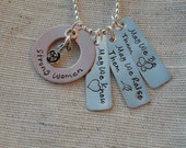 Strong Women Inspirational Quote Necklace