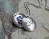 Love My Children Locket Necklace
