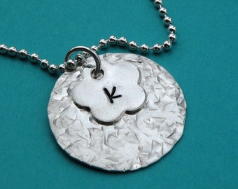 Flower Initial Necklace