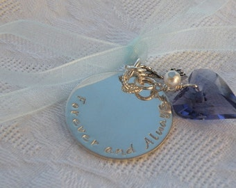 Wedding Bouquet Wild Heart Charm (Something Blue)