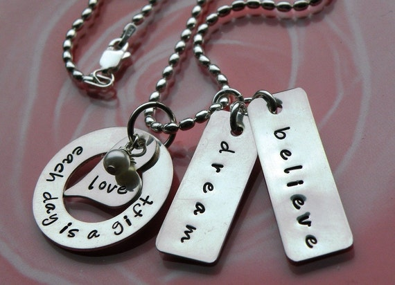 Each Day is a Gift Tag Necklace
