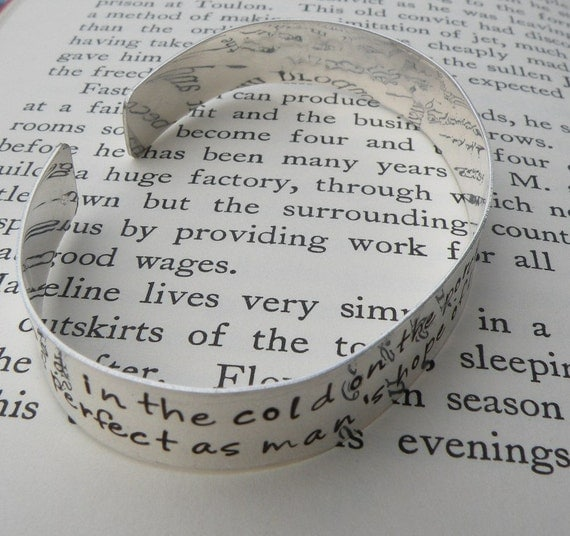 Custom Literary Quote Cuff Bracelet