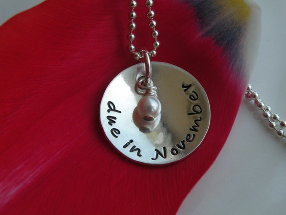 Mom-To-Be Due Date Necklace