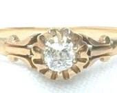 Victorian Diamond Ring / Vintage Wedding Ring