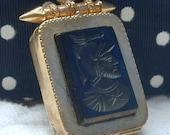 Antique Locket / Victorian Onyx