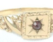 Victorian Rose Gold Ring Garnet