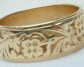Antique Wedding Band 14k Gold /Hold for Tara