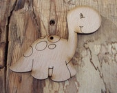 2 pieces Wood Dinosaur design - Plywood 4 mm Unfinished - Ready to paint