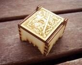 Secret Wood Box - Letters Collection - A -