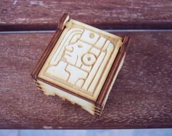 Secret Wood Box - Mayan Collection