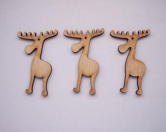 3 pieces Reindeers Decoration Hanger - DIY