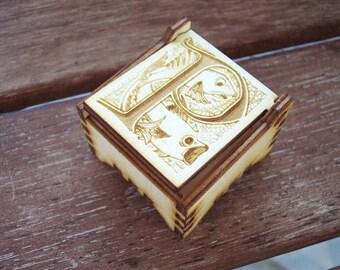 Secret Wood Box - Letters Collection - P -