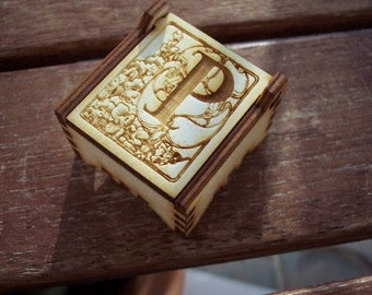 Secret Wood Box - Letters Collection - P -