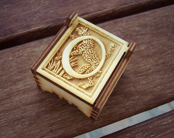 Secret Wood Box - Letters Collection - O -