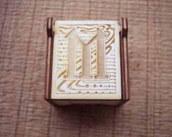 Secret Wood Box - Letters Collection - M -