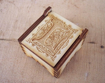Secret Wood Box - Letters Collection - L -