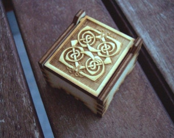 Secret Wood Box - Celtic Collection