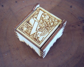 Secret Wood Box - Letters Collection - V1 -