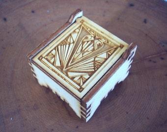 Secret Wood Box - Letters Collection - V2 -